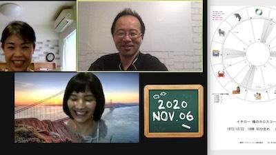 【教室の様子】Zoom 西洋占星術講座Part1(4回コース第1講)